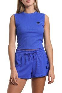 Γυναικείο αθλητικό top Fashion League Rib Adidas - CE3714 - Μπλε