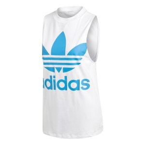 Adidas γυναικεία λευκή αθλητική αμάνικη μπλούζα Trefoil - DH3180 - Λευκό