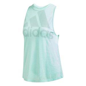 Adidas γυναικεία μπλούζα Magic Logo Tank - CW3854 - Βεραμάν Ανοιχτό
