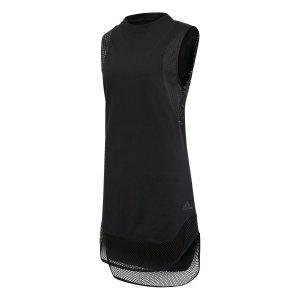 Adidas γυναικεία αμάνικη μπλούζα με mesh στο τελείωμα ID Long Muscle - DX7931 - Μαύρο