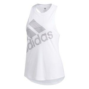Adidas γυναικεία αμάνικη μπλούζα με logo print Badge of Sport - EB4544 - Λευκό