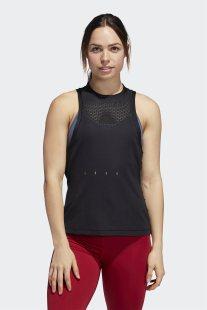 Adidas γυναικεια αμάνικη μπλούζα με mesh τμήματα Engineered Knit - DX7552 - Μαύρο