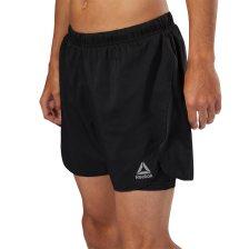 Reebok ανδρικό σορτς Running 2-1 Shorts - D92940 - Μαύρο