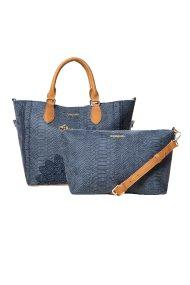 Desigual γυναικεία τσάντα Aquiles Florida - 18WAXPC4 - Μπλε