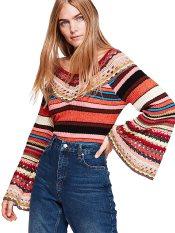 a7df4f1a8917 Free People γυναικείο πλεκτό χρωματιστό Heart   Soul Colorful Knit -  OB890312 - Πολύχρωμο