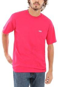 Vans Ανδρικό T-shirt Left Chest Logo - VN0A3CZETDE1 - Κόκκινο