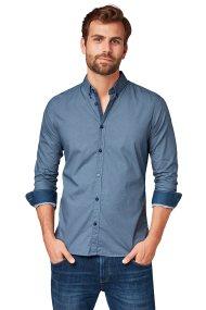 Tom Tailor ανδρικό πουκάμισο μονόχρωμο regular fit - 20557050910 - Μπλε