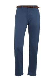 Tom Tailor ανδρικό παντελόνι chino Travis Regular με ζώνη - 64047870010 - Μπλε