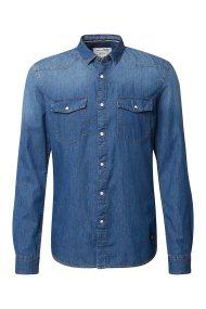 TOM TAILOR ανδρικό τζην πουκάμισο Slim fit - 1008088 - Μπλε