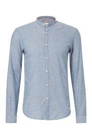TOM TAILOR ανδρικό πουκάμισο με γιακά μαο - 1008330 - Μπλε