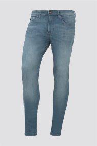 Tom Tailor ανδρικό τζην παντελόνι πετροπλυμένο Culver skinny - 1016271 - Μπλε Ανοιχτό