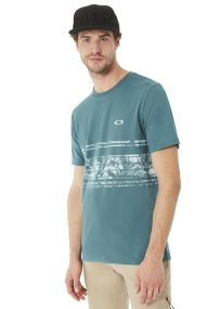 Ανδρικό T- shirt Pc Temples Stripe Oakley - 456850A - Μπλε Ανοιχτό