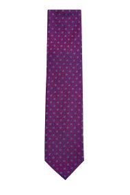 Kaiserhoff ανδρική μεταξωτή γραβάτα Twill floral - 2052934084208 - Μπορντό