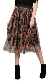 Molly Bracken γυναικεία μίντι φούστα Camouflage - W18MB-K788A - Κεραμιδί