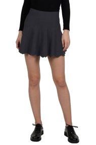 Molly Bracken γυναικεία μίνι φούστα μονόχρωμη κλος - W18MB-M2576 - Γκρι