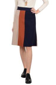 Molly Bracken γυναικεία μίνι φούστα με ρίγες - W18MB-S3528 - Μπλε Σκούρο