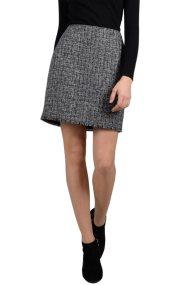 Molly Bracken γυναικεία μίνι φούστα tweed με ξέφτια - W18MB-T392 - Γκρι