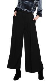 Molly Bracken γυναικείο cropped παντελόνι ψηλόμεσο - W18MB-T673 - Μαύρο