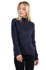 37498702c0ce Molly Bracken γυναικείο πουλόβερ με χαμηλό ζιβάγκο - W18MB-LA148 - Μπλε  Σκούρο