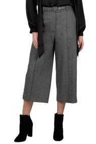 Molly Bracken γυναικείο παντελόνι capri σε φαρδιά γραμμή με ζώνη - W18MB-T671 - Γκρι