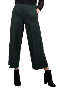 Molly Bracken γυναικείο παντελόνι cropped με ρεβέρ - W18MB-T676 - Κυπαρισσί