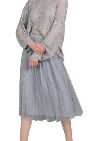 Molly Bracken γυναικεία midi τούλινη φούστα - S19MB-S3612 - Γκρι
