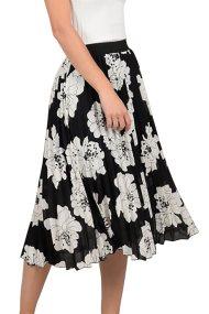 Molly bracken γυναικεία midi floral φούστα με πιέτες - S19MB-S3652 - Μαύρο