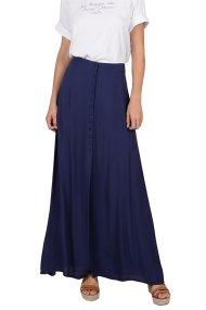 Molly Bracken γυναικεία maxi φούστα με κουμπιά - S19PMB-T973 - Μπλε Σκούρο
