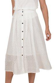 Molly bracken γυναικεία midi κλος φούστα - S19PMB-T977 - Λευκό