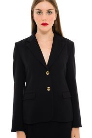 Jupe γυναικείo σακάκι με χρυσά κουμπιά - 21.182.J01.003 - Μαύρο