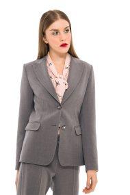 Bella P γυναικείο σακάκι με ραφές - 21.182.Β01.103 - Γκρι