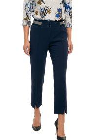Bella P γυναικείο παντελόνι υφασμάτινο με ελαστική μέση - 21.182.Β03.102 - Μπλε Σκούρο