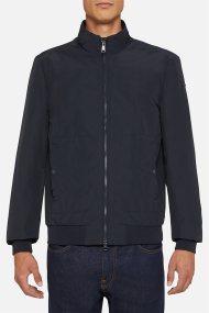Geox ανδρικό μονόχρωμο jacket με τσέπες ''Vincit'' - M0220D - Μπλε Σκούρο