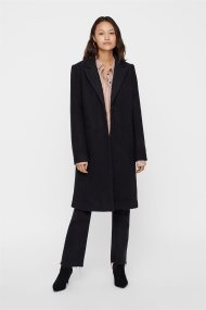 Vero Moda γυναικείο παλτό μονόχρωμο - 10183425 - Μαύρο