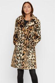 Vero Moda γυναικείο γούνινο παλτό leopard print - 10217020 - Μπεζ