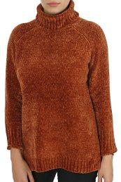ONLY γυναικεία πλεκτή μπλούζα ζιβάγκο μονόχρωμη - 15183918 - Κεραμιδί