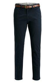 JACK & JONES ανδρικό παντελόνι chinos με ζώνη Cody Spencer - 12125506 - Μπλε Σκούρο