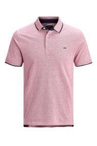 c9ecf2843ade JACK   JONES ανδρική μπλούζα polo με διχρωμία - 12136668 - Ροζ