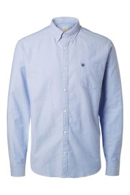SELECTED ανδρικό πουκάμισο Oxford - 16040493 - Γαλάζιο
