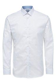 SELECTED ανδρικό πουκάμισο μακρυμάνικο Slim fit - 16058640 - Λευκό