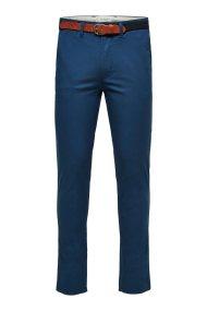 SELECTED ανδρικό παντελόνι chinos Slim fit με ζώνη - 16062981 - Μπλε Σκούρο
