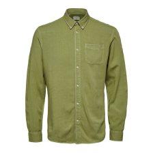 Selected ανδρικό button-down πουκάμισο Slim Fit - 16071914 - Πράσινο