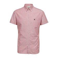 Selected ανδρικό ριγέ πουκάμισο Oxford - 16067675 - Κόκκινο