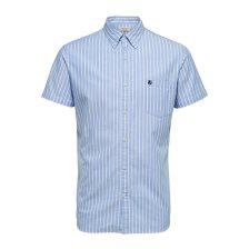 Selected ανδρικό ριγέ πουκάμισο Oxford - 16067675 - Γαλάζιο