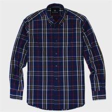 DORS ανδρικό βαμβακερό πουκάμισο με καρό σχέδιο - 1028005.C01 - Μπλε