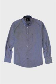 Dors ανδρικό βαμβακερό πουκάμισο με μικρό καρό - 1028011.C02 - Μπλε