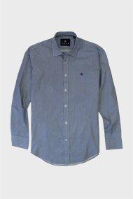 DORS ανδρικό βαμβακερό πουκάμισο με all-over micro print - 1028027.C01 - Μπλε