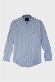 DORS ανδρικό βαμβακερό πουκάμισο με ριγέ σχέδιο - 1028035.C03 - Χακί