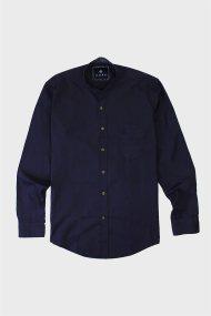 DORS ανδρικό βαμβακερό πουκάμισο με μαο γιακά - 1028039.C01 - Μπλε Σκούρο