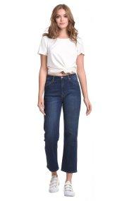 Sarah Lawrence Jeans γυναικείο τζην παντελόνι cropped Straight fit - 2-900023 - Μπλε Σκούρο